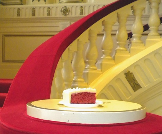 It's important that a cake blend into its surroundings. Who knew? - DEBORAH HYLAND