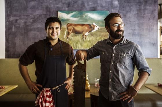 Chef Haley Riley and owner Tom Schmidt.   Jennifer Silverberg
