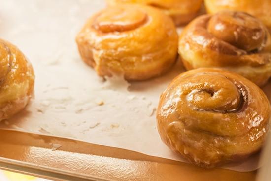 Mmm. Cinnamon roll doughnut. - PHOTOS BY MABEL SUEN