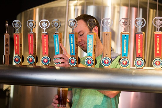 Several taps to choose from.
