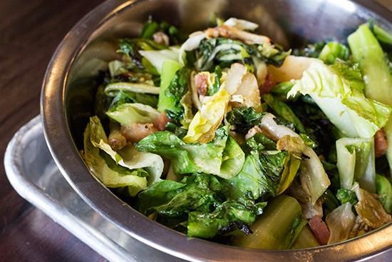 Charred escarole salad.