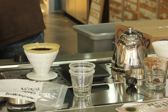 A test brew last week at Blueprint. | Nancy Stiles