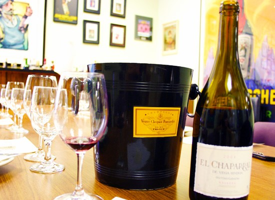 Wine school supplies: bottle, glass and bucket. Glass and bucket optional. - KATIE MOULTON