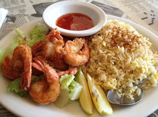Shrimp at Hooked Seafood Bar - EVAN C. JONES