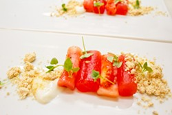 A watermelon and tomato dish from the new Little Country Gentleman - MABEL SUEN