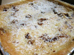 """The """"Hwy 40: Still Drivin' Me Nuts!"""" gooey butter cake at Gooey Louie. - REASE KIRCHNER"""