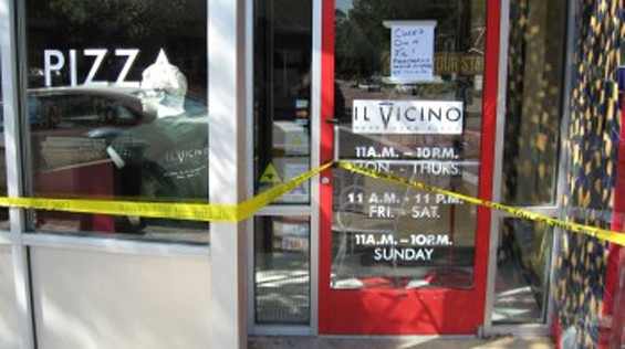 Il Vicino in Clayton, shortly after the fire that forced its closure. - SARAH FENSKE