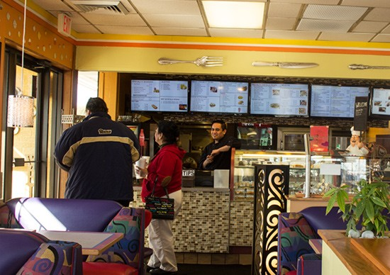 The interior of St. Louis Taco & Pita Grill.