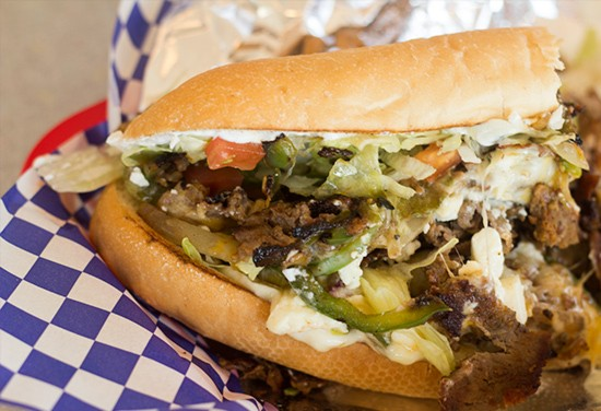 """The """"Greek-Style Philly Cheese Steak."""""""