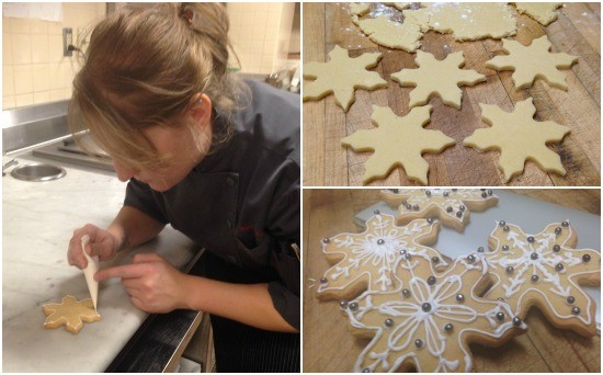 Chef Mary Boehne hard at work on Cielo's cookies. | Kelsey Power