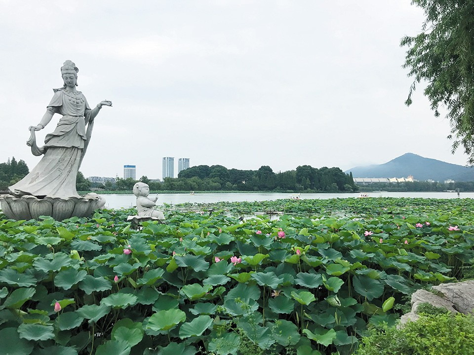 Xuanwu Lake Park, a city park and green space in the downtown of Nanijng. - RYAN KRULL