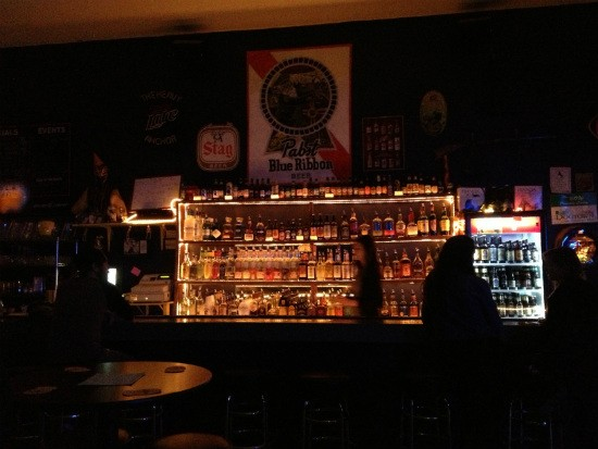 The bar at the Heavy Anchor. - CAILLIN MURRAY