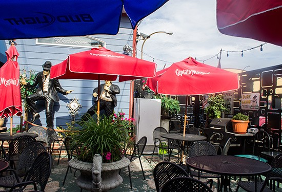 Available seating on the patio.