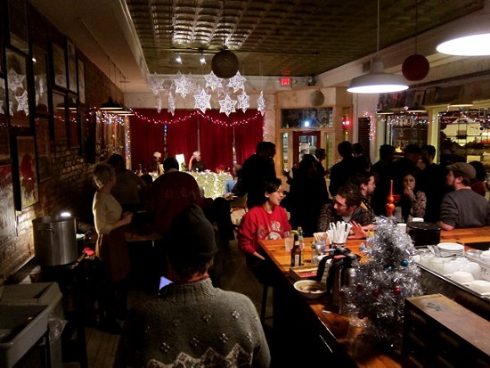 A snapshot from Sloup's holiday party in December 2011. - IMAGE VIA