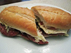 The hot salami at Gioia's Deli.   Ian Froeb