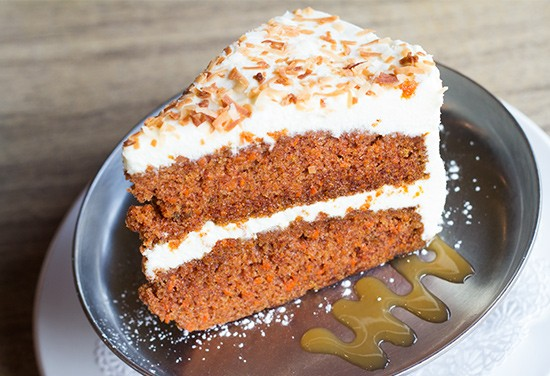 Pastry chef Carolyn Downs' carrot cake. | Photos by Mabel Suen