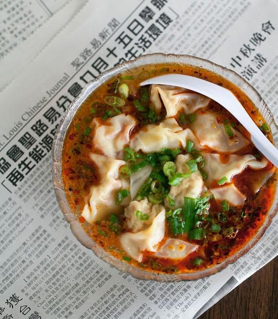 The spicy wonton soup at Famous Szechuan Pavilion - JENNIFER SILVERBERG