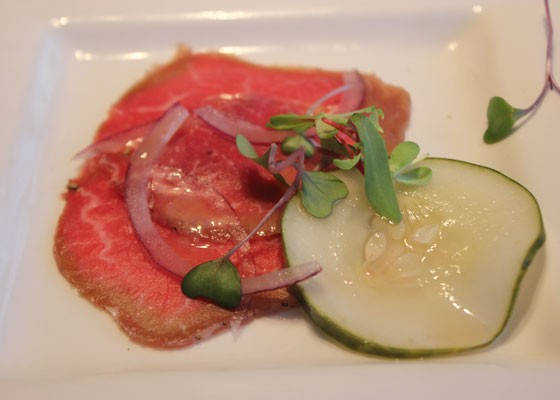 Fitchner Farm Piedmontese beef carpaccio. | Nancy Stiles