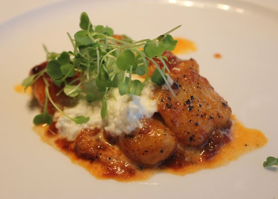 Potato gnocchi, pork-trotter ragu and housemade goat milk ricotta. | Nancy Stiles