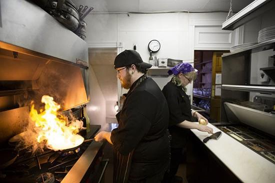 Co-executive chefs Austin Hamblin and Michelle Allender in the Bella Vino kitchen. | Jennifer Silverberg