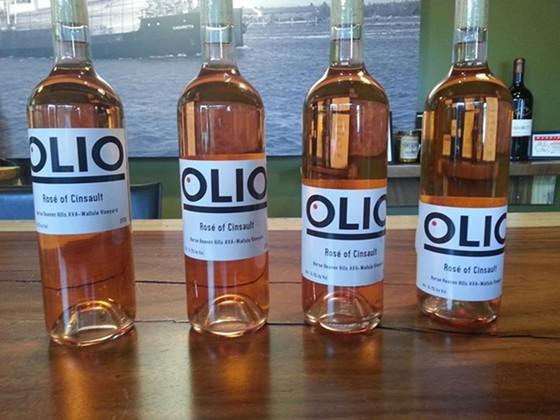 Olio's private label rosé.   Image courtesy of Olio