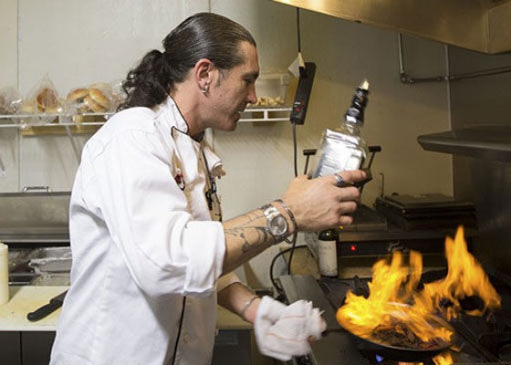 Chef Brian Hale at work at Jax Cafe. | Jennifer Silverberg