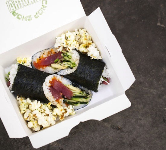 "A ""big fat sushi roll"" from Chop Shop - JENNIFER SILVERBERG"