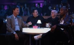 Larry David and pals curb their enthusiasm tableside. - HBO