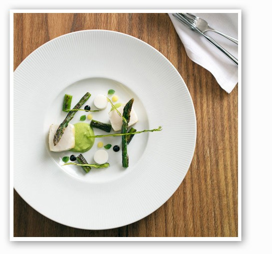 Escolar, along with asparagus, buttermilk and lemon verbena at Niche. | Jennifer Silverberg