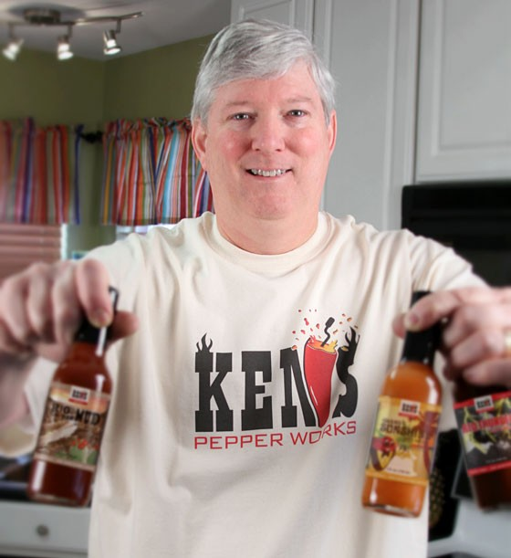 Ken Stringer with his signature sauces. | Courtesy Ken Stringer