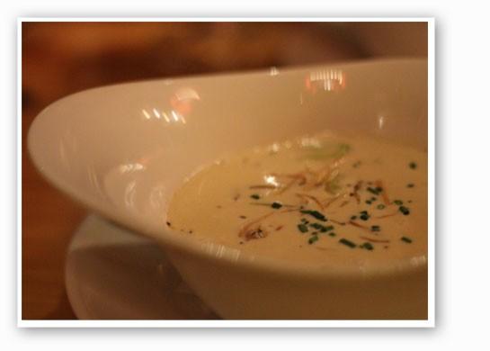 Shrimp and butternut squash chowder.   Nancy Stiles