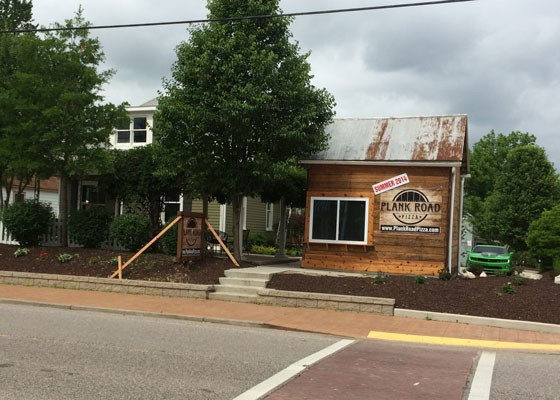 Outside Plank Road Pizza. | Andrew Brewer