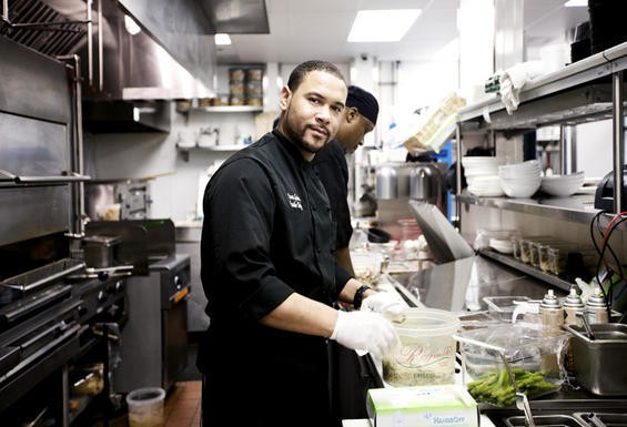 Yaron Garcia, executive chef of the new Charlie Gitto's in Chestefield - JENNIFER SILVERBERG