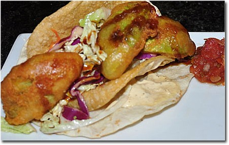 Vegan-friendly avocado tacos at Sunset 44 Bistro in Kirkwood. | Tara Mahadevan
