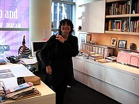 Reichl in her office at Gourmet in New York. - FLICKR.COM/PHOTOS/42323675@N00