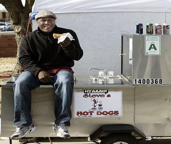 Steve Ewing's hot dog haven. - JENNIFER SILVERBERG