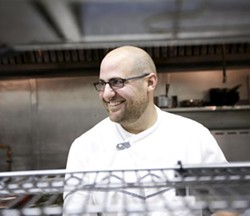 Vito Racanelli in the kitchen of Mad Tomato - JENNIFER SILVERBERG