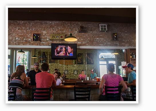 The bar at Jax Cafe.   Mabel Suen