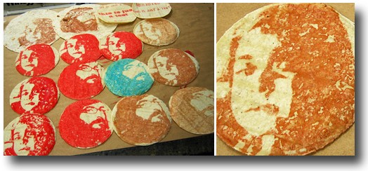 Jesus ain't got nothing on this tortilla operation executed by artist Kim Wardenburg and Eric Woods, owner of Firecracker Press. - FIRECRACKER PRESS