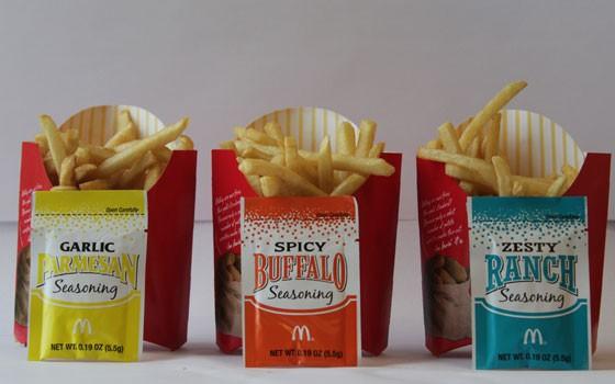 The new Shakin' Flavor Fries.   Nancy Stiles