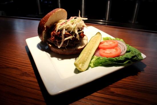 The Carolina burger ($10) from Bailey's Range. - MABEL SUEN