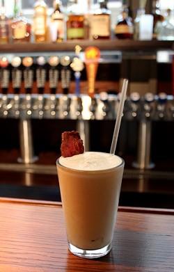 The Sweet Sweet Bacon boozy shake ($9) from Bailey's Range. - MABEL SUEN