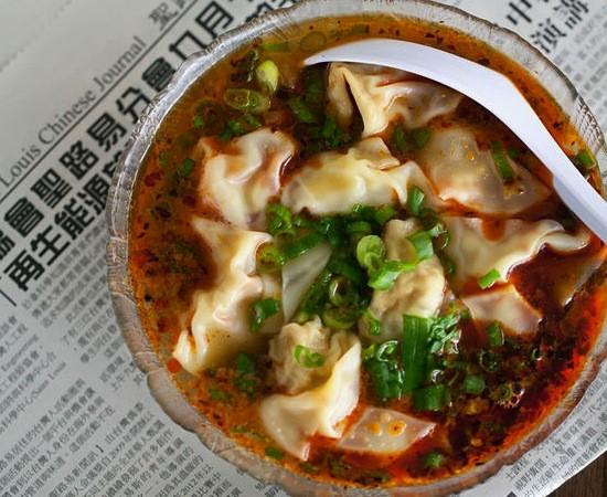 """The """"Spicy Wonton Soup"""" at Famous Szechuan Pavilion - JENNIFER SILVERBERG"""