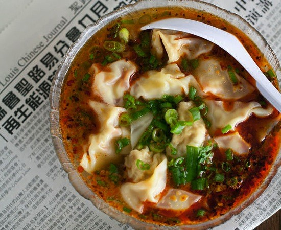 "The ""Spicy Wonton Soup"" at Famous Szechuan Pavilion - JENNIFER SILVERBERG"