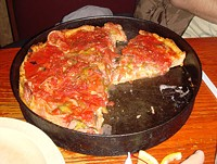 A sampling from Chicago's Pizzeria Uno -- scorned by Obama. - WIKIMEDIA COMMONS