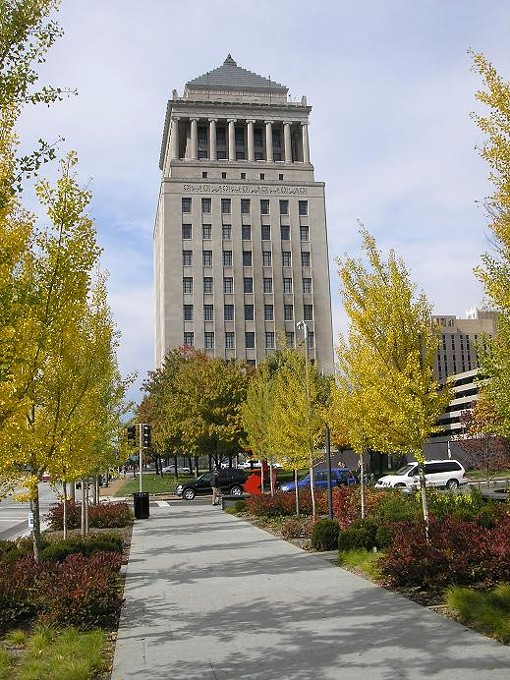 The Civil Courts building, as seen from Citygarden - IAN FROEB