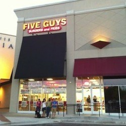 Five Guys Burgers and Fries is making a strong push for the finals.