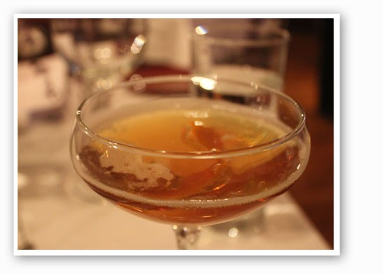 The Manhattan in Paris: Rittenhouse rye, Dolin vermouth blanc, Dolin vermouth rouge, Stirrings blood orange bitters and Amaro Nonino. | Nancy Stiles