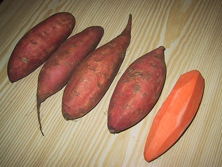 Sweet potatoes: Try not to eat them all before you're done. - JÉRÔME SAUTRET, WIKIMEDIA COMMONS