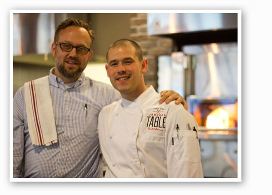 Executive chef Nick Martinkovic, right, with general manager Matt McGuire, will leave Central Table at the end of the month. | Mabel Suen